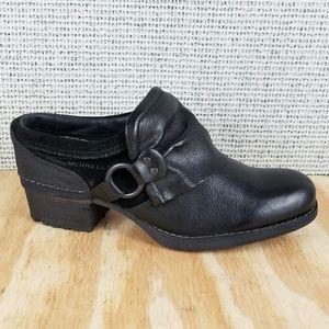 Merrell Black Leather Harness Slip On Shiloh Clogs